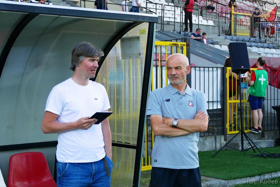 Piotr Dziewicki i trener Krzysztof Chrobak